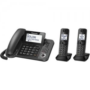 Panasonic Digital Corded / Cordless Phone with Answering System and 2 Handsets KX-TGF352M