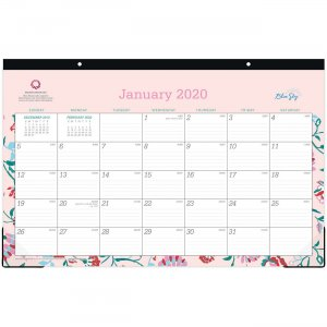 Blue Sky Write-on Calendar Monthly Desk Pad 100021 BLS100021