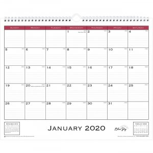 Blue Sky Classic Monthly Wall Calendar 111292 BLS111292