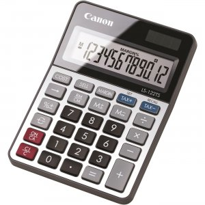 Canon 12-digit LCD Basic Calculator LS122TS CNMLS122TS LS-122TS
