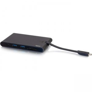 C2G USB C to HDMI, VGA and Ethernet Hub with SD Card Reader and Power 26916