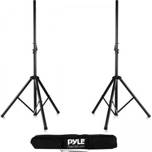 Pyle Dual Universal Speaker Stand Mount Holders, Height Adjustable (Pair) PSTK107