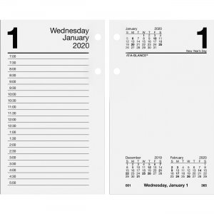 At-A-Glance Loose-leaf Daily Desk Calendar Refill E7175020 AAGE7175020