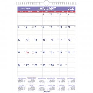 At-A-Glance Monthly Wall Calendar PM22820 AAGPM22820