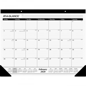 At-A-Glance Classic Monthly Desk Pad SK240020 AAGSK240020