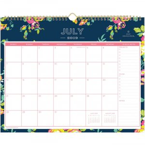 Blue Sky Peyton Navy Floral Wall Calendar 107934 BLS107934