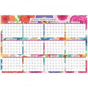 Blue Sky Mahalo Floral Laminated Wall Calendar 108253 BLS108253