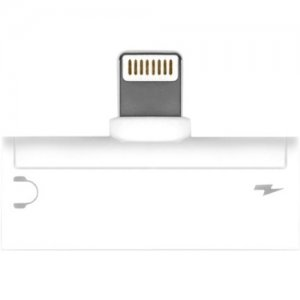 Aluratek Lightning + 3.5 mm Adapter For iPhone/iPad ADLA01F