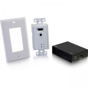 C2G HDMI Extender Over Cat5/Cat6 Wall Plate to Box Kit up to 164ft (50m) 60219