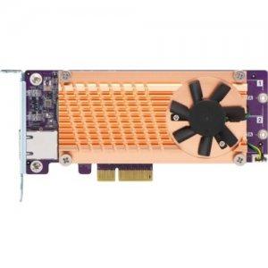 QNAP Dual M.2 2280 SATA SSD & Single-port 10GbE Expansion Card QM2-2S10G1TA