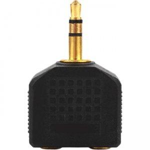 4XEM 3.5mm Mini Jack Headphone Splitter Black 4XIJACKBK