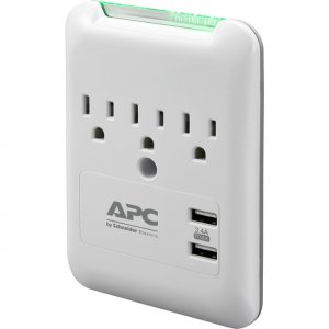 APC by Schneider Electric SurgeArrest Essential 3-Outlet Surge Suppressor/Protector PE3WU3