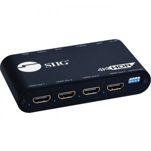 SIIG 1x4 HDMI 2.0 Splitter with Audio Extractor / Auto Scaling & EDID Management CE-H24Y11-S1