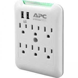 APC by Schneider Electric SurgeArrest Essential 6-Outlet Surge Suppressor/Protector PE6WU2