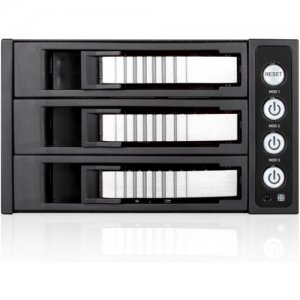 "iStarUSA 2x 5.25"" to 3x 3.5"" 2.5"" 12Gb/s HDD SSD Hot-swap Rack BPU-230HD-SILVER"