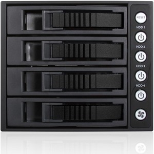 "iStarUSA 3x 5.25"" to 4x 3.5"" 2.5"" 12Gb/s HDD SSD Hot-swap Rack BPU-340HD-BLACK"