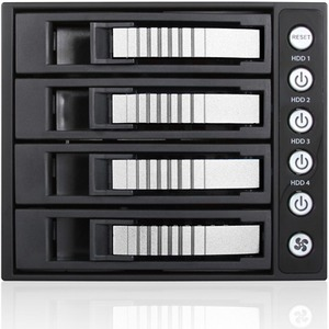"iStarUSA 3x 5.25"" to 4x 3.5"" 2.5"" 12Gb/s HDD SSD Hot-swap Rack BPU-340HD-SILVER"