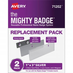 Avery Mighty Badge Magnetic Name Tag Replacements 71202 AVE71202
