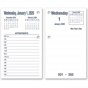 SKILCRAFT DayMax System Refill Calendar Pages 6648817 NSN6648817