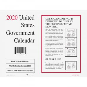 Unicor Monthly Wall Calendar 6649501 UCR6649501