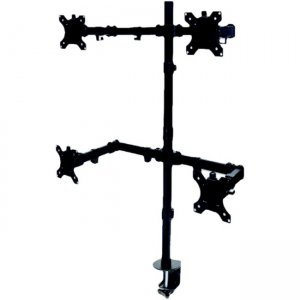 Manhattan Universal Four Monitor Mount with Double-Link Swing Arms 461566