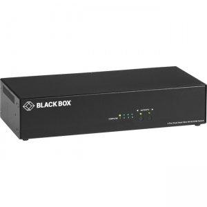 Black Box 4K60 HDMI Dual-Head KVM Switch - 4 Port HD6224A