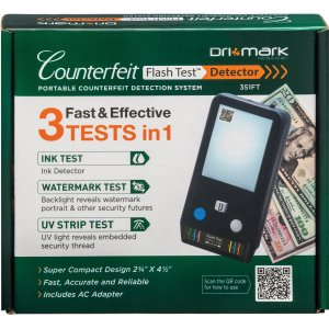 Dri Mark Counterfeit Flash Test Detection System 351FT DRI351FT