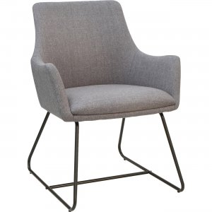 Lorell Gray Flannel Guest Chair with Sled Base 68562 LLR68562