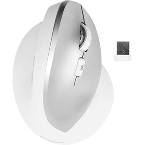 Macally Ergonomic Vertical 6 Button Wireless 2.4 Ghz RF Mouse For Mac and PC RFERGOPALM