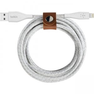 Belkin DuraTek Plus Lightning to USB-A Cable with Strap F8J236BT06-WHT