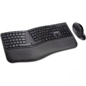 Kensington Pro Fit Ergo Wireless Keyboard and Mouse-Black K75406US