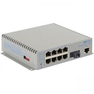 Omnitron Systems OmniConverter G/M, 1xSM SC SF + 8xRJ-45, AC Powered Extended Temp 2831-1-18-1Z
