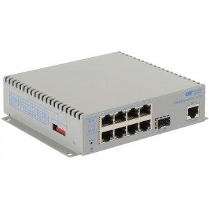 Omnitron Systems OmniConverter G/M, 1xSFP + 8xRJ-45, AC Powered Extended Temp 2839-0-18-1Z