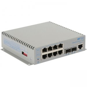 Omnitron Systems OmniConverter G/M, 2xSFP + 8xRJ-45, AC Powered Wide Temp 2839-0-28-1W