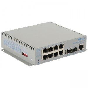 Omnitron Systems OmniConverter G/M, 2xSFP + 8xRJ-45, AC Powered Extended Temp 2839-0-28-1Z