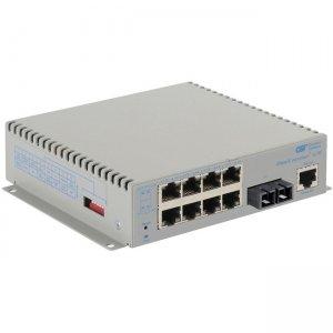 Omnitron Systems OmniConverter G/M, 1xSM SC + 8xRJ-45, DC Powered Wide Temp 2823-2-18-9W