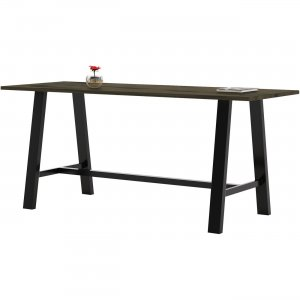 KFI Midtown Solid Wood Top Cafe Table 3696MTLFTB41 KFI3696MTLFTB41