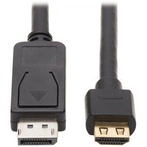Tripp Lite DisplayPort to HDMI 4K Cable - M/M, 15 ft., Black P582-015-4K6AE
