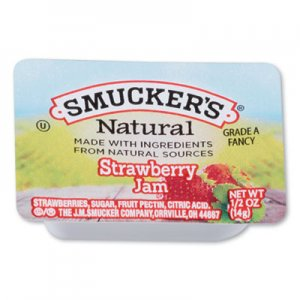 Smucker's Smuckers 1/2 Ounce Natural Jam, 0.5 oz Container, Strawberry, 200/Carton SMU8201 8201