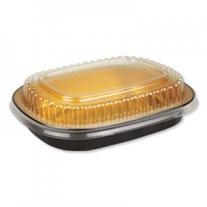 Durable Packaging Aluminum Closeable Containers, 23 oz, 6.25 x 1.25 x 4.38, Black/Gold, 100/Carton DPK9331PT100