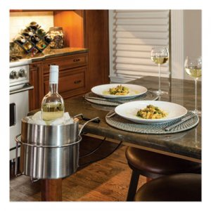 C-Line Wine By Your Side, Steel Frame/Red Wine Adapter/Ice Bucket, 161.06 cu in, Stainless Steel CLI20014