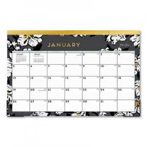 Blue Sky Baccara Dark Desk Pad, 17 x 11, 2020 BLS116050 116050