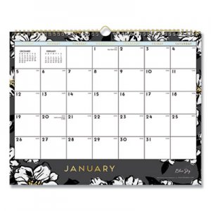 Blue Sky Baccara Dark Wall Calendar, 15 x 12, 2020 BLS116051 116051