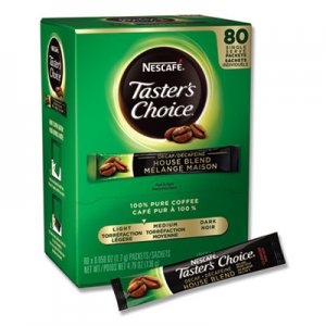 Nescafe Taster's Choice Stick Pack, Decaf, 0.06oz, 80/Box, 6 Boxes/Carton NES66488CT 66488CT