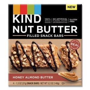 KIND Nut Butter Filled Snack Bars, Honey Almond Butter, 1.3 oz, 4/Pack KND26289 26289