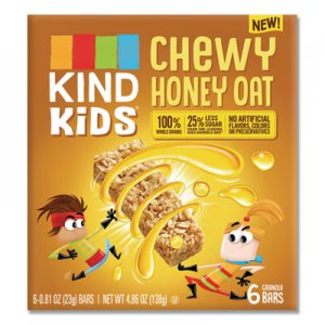 KIND Kids Bars, Chewy Honey Oat, 0.81 oz, 6/Pack KND25989 25989