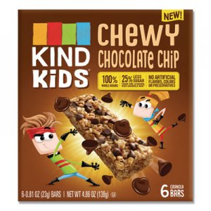 KIND Kids Bars, Chewy Chocolate Chip, 0.81 oz, 6/Pack KND25987 25987