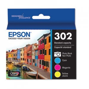 Epson T302520S (T302) Claria Ink, Cyan; Magenta; Yellow; Photo Black EPST302520S T302520-S