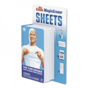 "Mr. Clean Magic Eraser Sheets, 3 1/2"" x 5 4/5"" x 0.03"", White, 16/Pack PGC90618PK 90618PK"