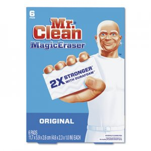 Mr. Clean Magic Eraser, 2 3/10 x 4 3/5 x 1, White, 6/Pack PGC79009PK 79009PK